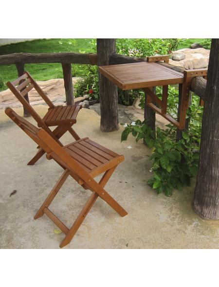 GARDEN PLEASURE Balkon-Hängetisch-Set »Berkeley«, 2 Sitzplätze, aus Eukalyptusholz