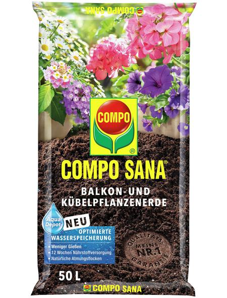COMPO Balkon- und Kübelpflanzenerde »COMPO SANA®«, für Balkon und Kübelpflanzen