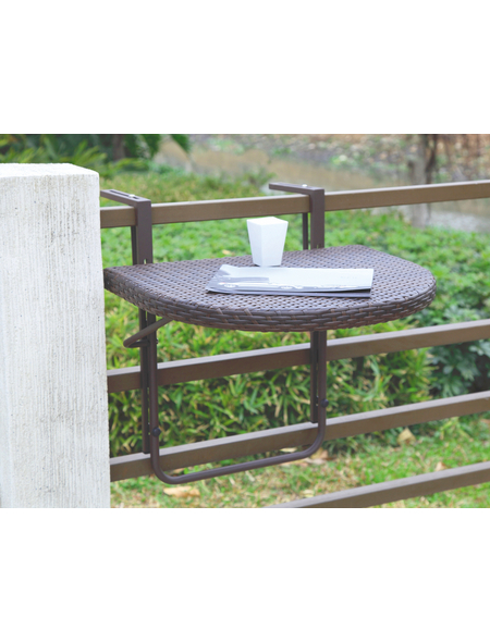 GARDEN PLEASURE Balkonhängetisch »Agra«, mit Aluminium-Tischplatte, BxTxH: 60 x 50 x 43 cm