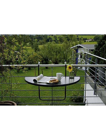 BEST Balkonhängetisch »Butler«, mit Alcolit-Tischplatte, BxTxH: 100 x 50 x 8 cm