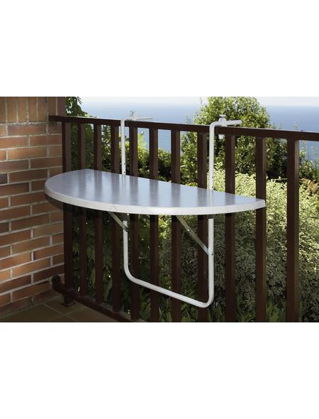 Balkonhängetisch mit Alcotop-Tischplatte