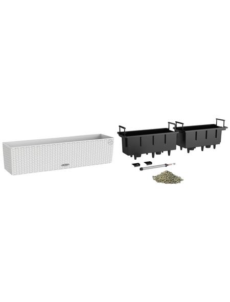 LECHUZA Balkonkasten »BALCONERA«, Kunststoff, weiß, rechteckig