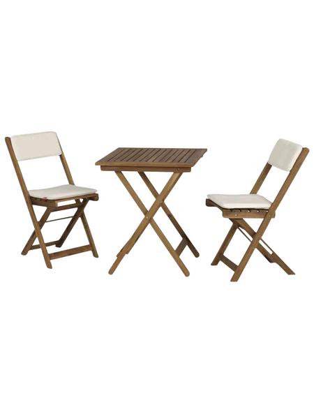 SIENA GARDEN Balkonmöbelset, 2 Sitzplätze, inkl. Auflagen