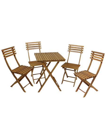 GARDEN PLEASURE Balkonmöbelset »Alameda«, 4 Sitzplätze, Akazie