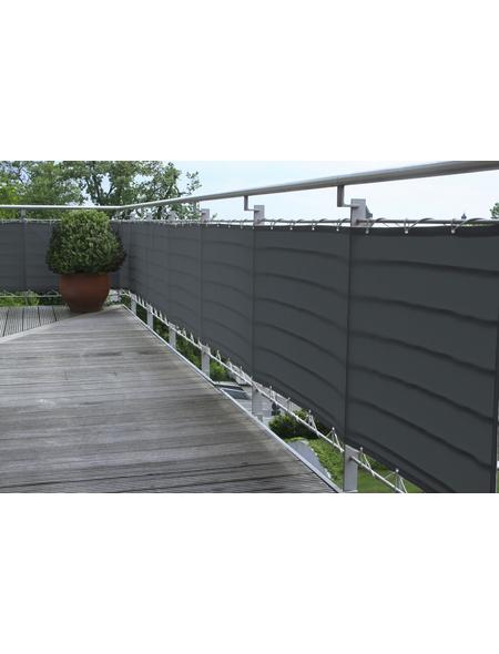 FLORACORD Balkonverkleidung, Polyester, HxL: 75 x 500 cm