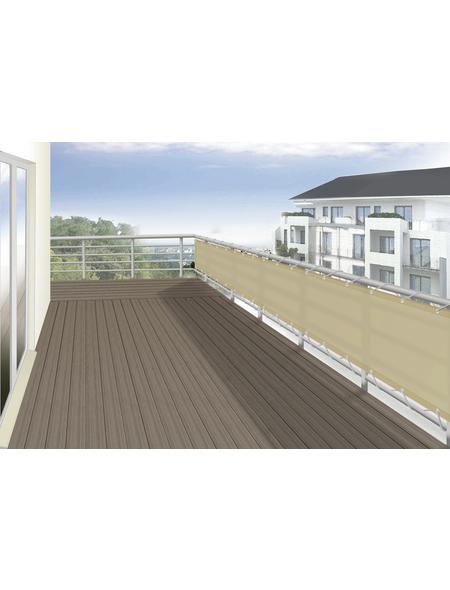 FLORACORD Balkonverkleidung, Polyester, HxL: 90 x 500 cm