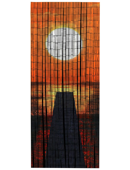 WENKO Bambusvorhang, Sonnenuntergang