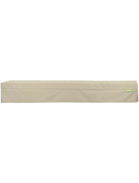 OUTBAG Bankauflage »Bench Plus«, beige, Uni, BxL: 220 x 25 cm