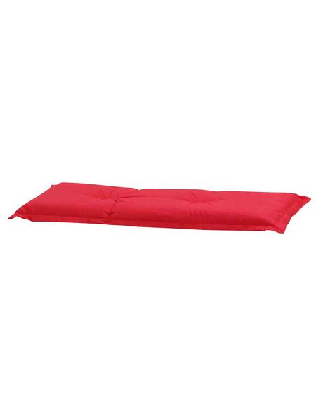 MADISON Bankauflage »Panama«, Uni, rot, 110 cm x 48 cm