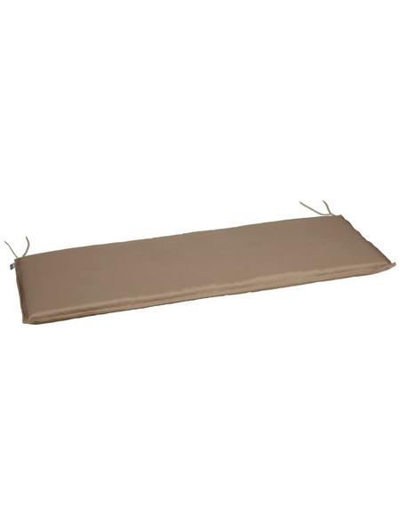 CASAYA Bankauflage, Uni, greige/grau, 120 cm x 45 cm