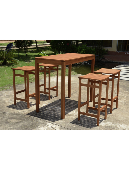 GARDEN PLEASURE Bar-Set, 4 Sitzplätze