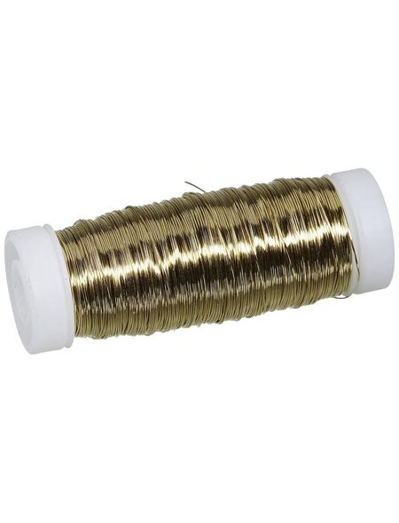 CASAYA Basteldraht, Metall, goldfarben
