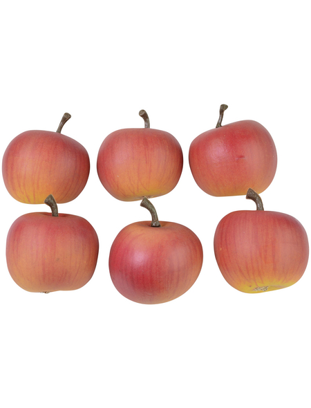 CASAYA Basteln Dekoäpfel Rot, 6 Stück/Beutel