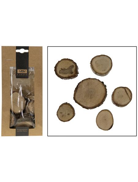 CASAYA Basteln Holzscheiben Natur, 200 g