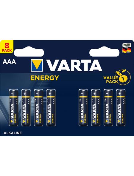VARTA Batterie, Energy, AAA, 1,5 V, 8 Stk.