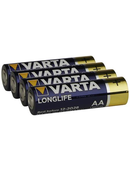 VARTA Batterie, LONGLIFE, AA Mignon, 1,5 V, 4 Stück