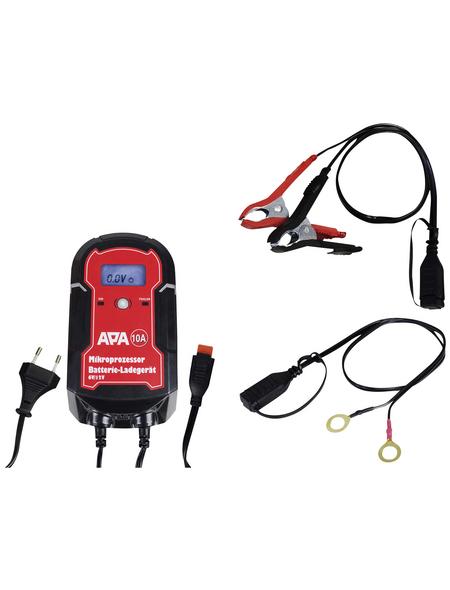 APA Batterieladegerät, 11,5 x 20,5 x 6 cm, 6/12 V, 10 A, Rot | Schwarz