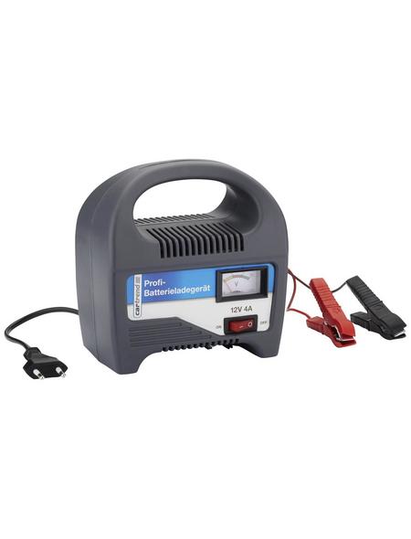 CARTREND Batterieladegerät, 16 x 15 x 9 cm, 12 V, 4 A, Grau