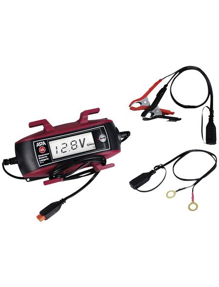 APA Batterieladegerät, 18 x 10 x 4,5 cm, 6/12 V, 4 A, Rot | Schwarz