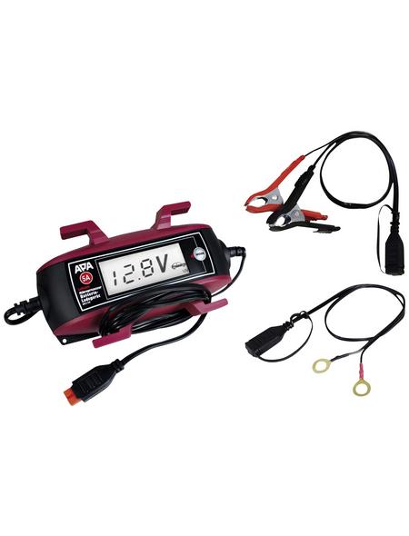 APA Batterieladegerät, 18 x 10 x 4,5 cm, 6/12 V, 5 A, Rot | Schwarz