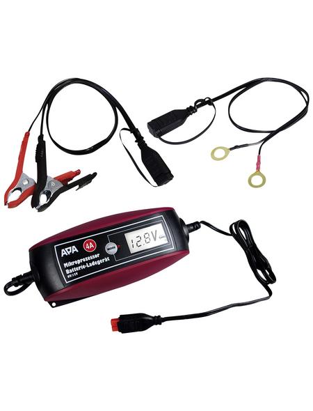 APA Batterieladegerät, 18 x 8 x 4,5 cm, 6/12 V, 4 A, Rot   Schwarz