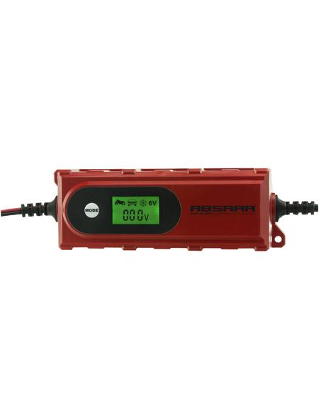 Absaar Batterieladegerät, geeignet für alle Batterietypen, Kunststoff, rot