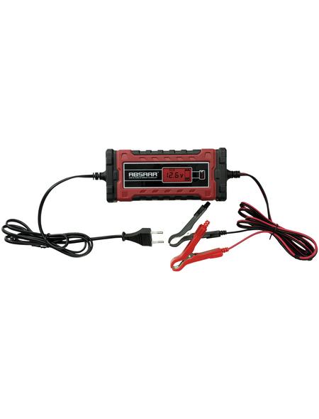 Absaar Batterieladegerät, geeignet für alle gängigen Kfz-Batterien, Kunststoff, rot/schwarz