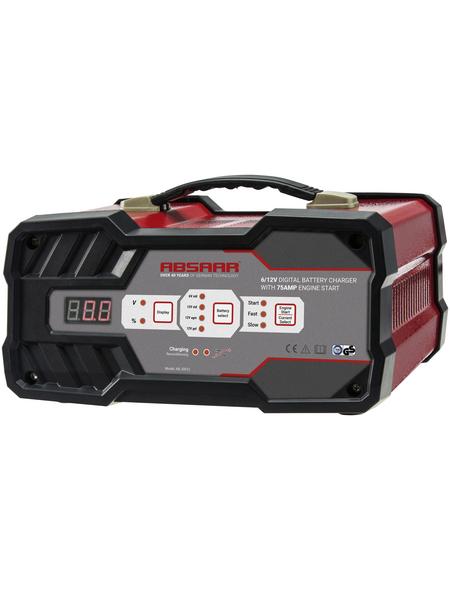Absaar Batterieladegerät, Metall, rot/schwarz