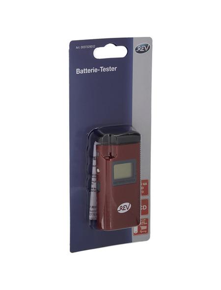 REV Batterietester »LCD Batterie-Tester«, rot