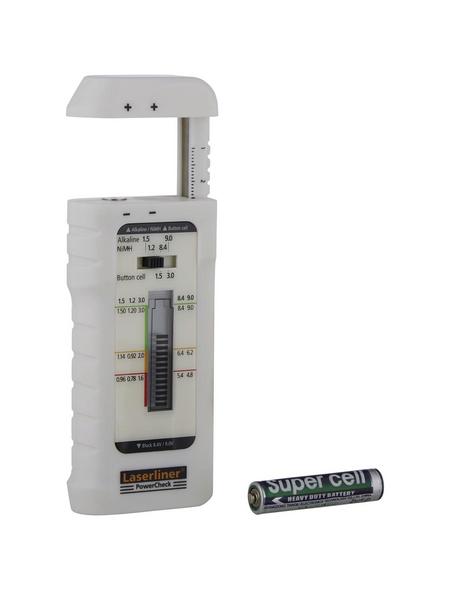 laserliner® Batterietester »PowerCheck«, weiß