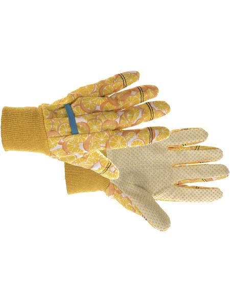 KIXX Baumwollhandschuhe »Baumwolle«, gelb