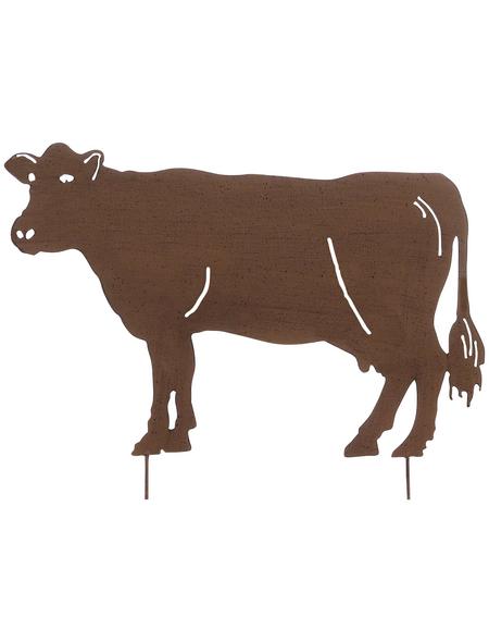 Beetstecker, Kuh, rostfarben, Metall
