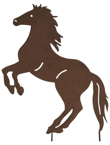 Beetstecker, Pferd, rostfarben, Metall