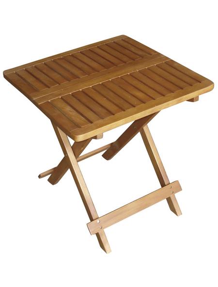 GARDEN PLEASURE Beistelltisch »Cleveland«, Holz, natur, BxHxT: 50 x 50 x 50 cm