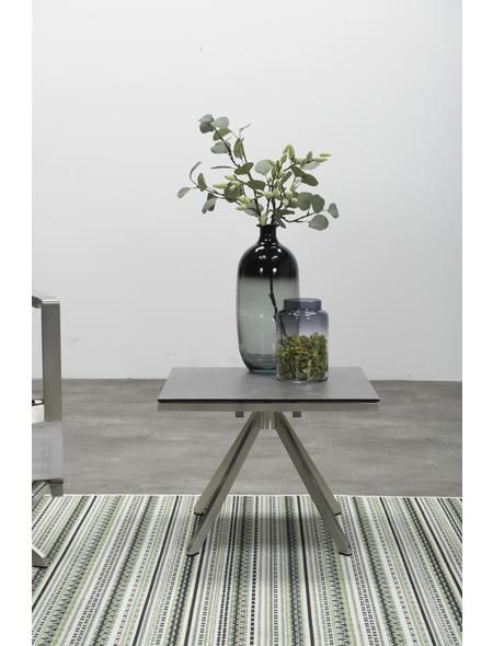 GARDEN IMPRESSIONS Beistelltisch »Edelstahl« mit Keramik/Glas/Schiefer-Tischplatte, BxTxH: 50 x 53 x 42 cm