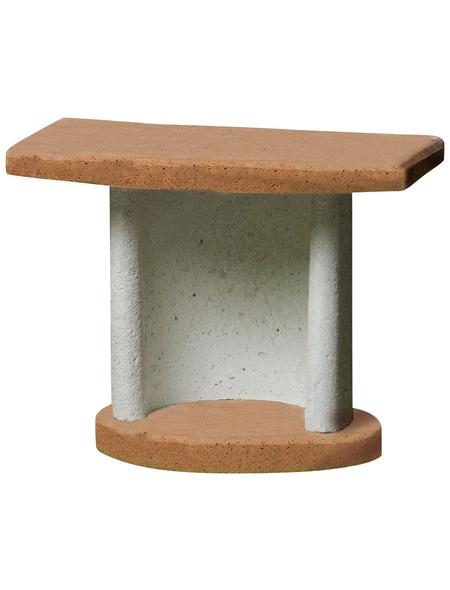 BUSCHBECK Beistelltisch »Georgia«, Terrasse, Garten, Beton, terracotta/grau