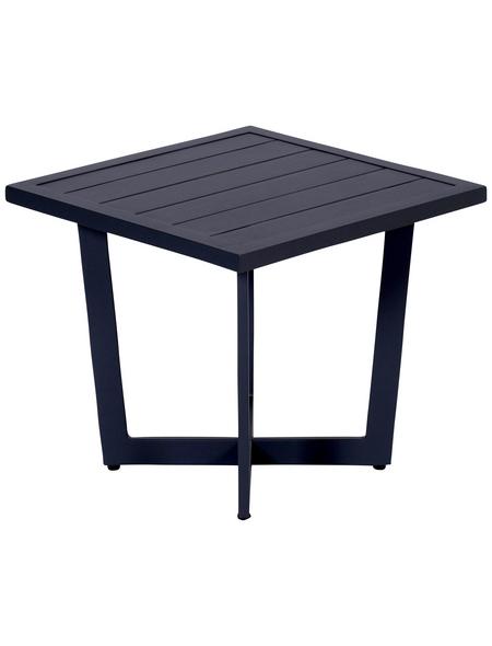 GARDEN IMPRESSIONS Beistelltisch »Ivy«, Aluminium, schwarz, BxHxT: 47,5 x 42 x 47,5 cm