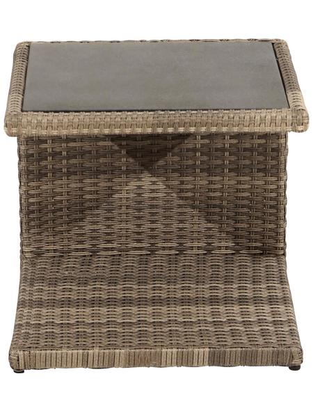 ploß® Beistelltisch »Rabida«, mit Spraystone-Tischplatte, BxLxH: 45x50x50 cm