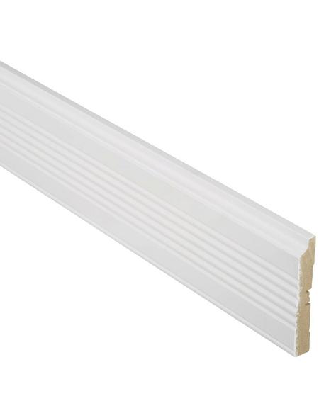 FN NEUHOFER HOLZ Bekleidungsleiste, weiß, MDF, LxHxT: 240 x 11,1 x 1,9 cm