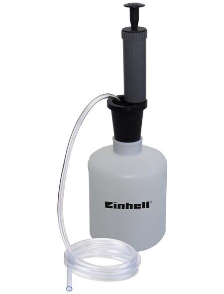 EINHELL Benzin- und Ölabsaugpumpe, 1,6 l Behälter, 1,3 m Absaugschlauch, Unterdruckpumpe