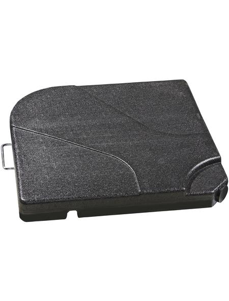 DOPPLER Beschwerplatte, grau, geeignet für Sonnenschirme