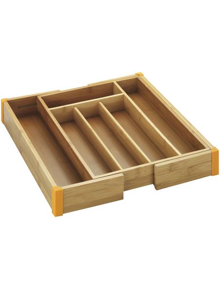 WENKO Besteckkasten, Bambus, braun