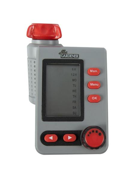 MR. GARDENER Bewässerungscomputer, Kunststoff, grau/rot