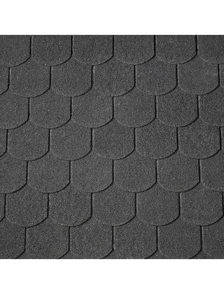 RENOVO Biberschwanz-Dachschindeln, Bitumen, schwarz, Paketinhalt: 2 m²