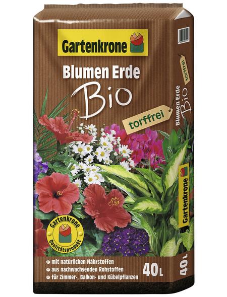 GARTENKRONE Bio-Blumenerde »Bio«, für Zimmer-,Balkon- und Kübelpflanzen