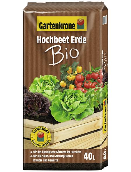 GARTENKRONE Bio-Hochbeet-Erde »Bio«, für Salat- und Gemüsepflanzen, Kräuter und Gewürze