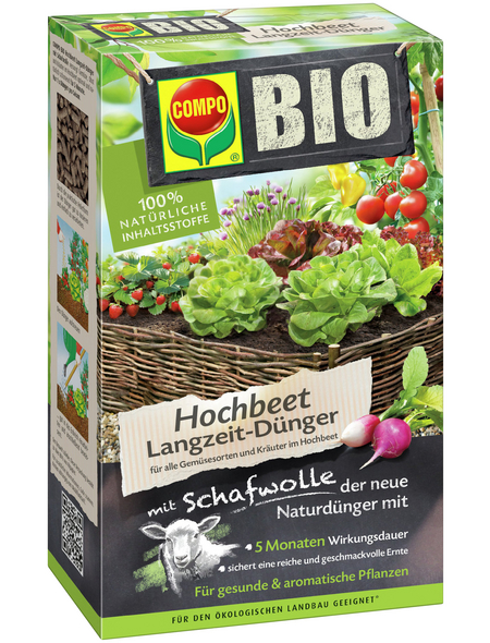 COMPO BIO Hochbeet Langzeit-Dünger mit Schafwolle 750 g