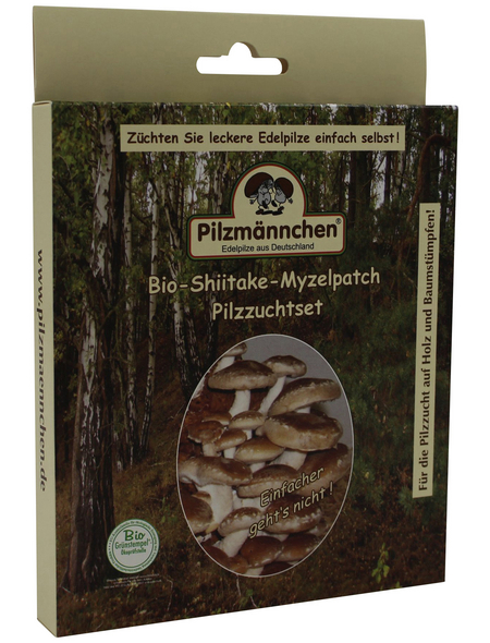 Bio Myzelpatch Pilzzuchtset Shiitake, für den Garten