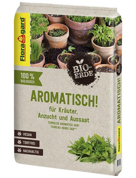 FLORAGARD Bio-Pflanzenerde »Aromatisch!«, für Kräuter & Aussaat