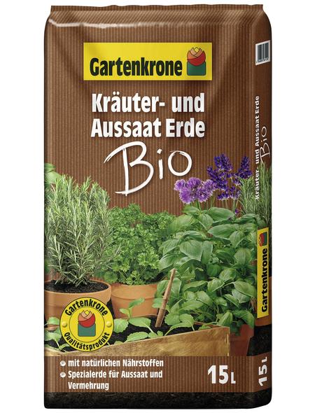 GARTENKRONE Bio-Pflanzenerde »Bio«, für Für Aussaat- und Vermehrung